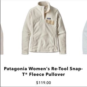 Patagonia Re-Tool Snap-T Fleece Pullover Size S